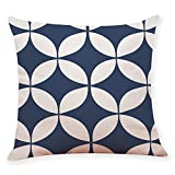WEUIE Cozy Pillow Cases Covers Couch Bed Sofa Geometric Trellis Chain Print Cushion Cover 18 X 18 Inches