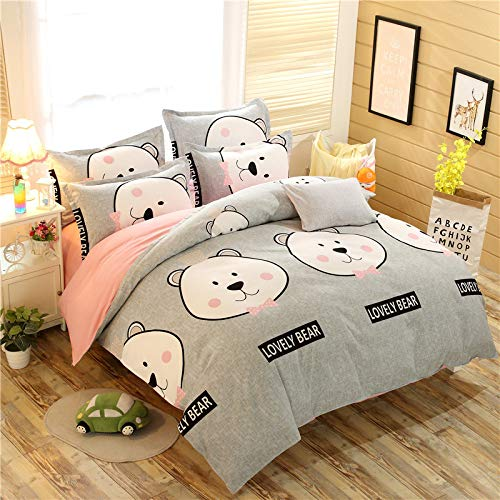 CYGJ CYGJThree-piece or four-piece set of soft and comfortable cotton beddingBearThree-piece 1.2m bed