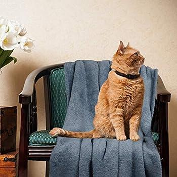 PiccoCasa Couverture polaire douce et chaude pour chien pour petit animal domestique Housse de siège de voiture lavable pour chiots et chats 60 x 80 cm Bleu clair