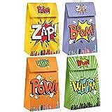 Baosu Paquete de 20 Bolsos de Fiesta de superhéroes para favores de Fiesta para favores de Fiesta de superhéroes