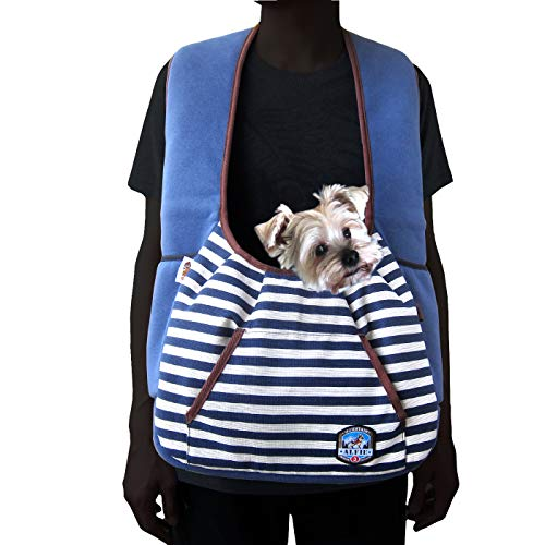 Alfie Pet - Amos Pet Front Sling Carrier - Color: Navy