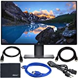 Dell U2720Q UltraSharp 27' 16:9 HDR 4K IPS Monitor + Display Port Cable + ZoomSpeed HDMI Cable + USB 3.0 Cable + AOM Microfiber Cleaning Cloth Monitor Bundle