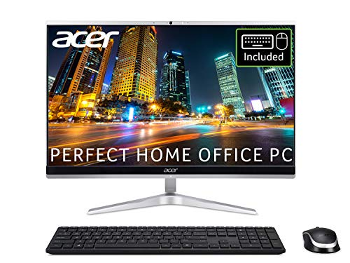 Acer Aspire C22-1650 21.5 inch All-in-One PC (Intel Core i3-1115G, 8GB, 128GB SSD and 1TB HDD, Full HD Display, Wireless Keyboard and Mouse, Windows 10, Silver)