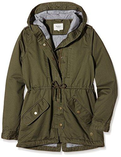Pepe Jeans Jasmin Teen, Abrigo Niños, Verde (Army 716), 10 años (Talla del fabricante: X-Small)
