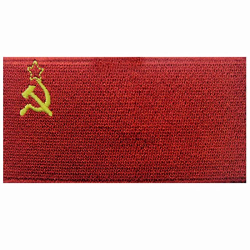 Sowjetunionsflagge Bestickter Kommunistisch Aufnäher zum Aufbügeln/Annähen