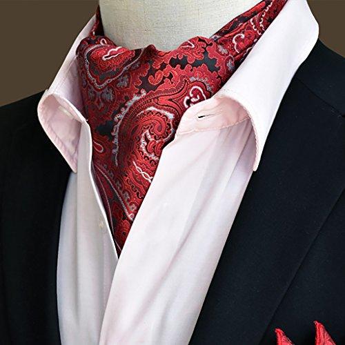 QIANGDA Pañuelo De Seda Hombres Corbata Pañuelo Cuello De Camisa Bufanda De Negocios, 50.4 * 6.3 Pulgadas, 22 Estilos Opcional (Color : 1#)