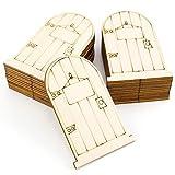 tJexePYK Mini Puerta de Madera Muebles de Madera Miniatura de Apertura de la Puerta Modelo Hada Puerta con Pretend Accesorios Playset