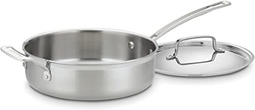 new arrival Cuisinart MultiClad Pro Stainless 3-1/2-Quart online popular Saute with Helper and Cover outlet sale