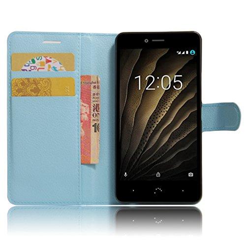 Tasche für BQ Aquaris U Lite Hülle, Manyip PU Ledertasche Flip Cover Wallet Hülle Handyhülle mit Stand Function Credit Card Slots Bookstyle Purse Design