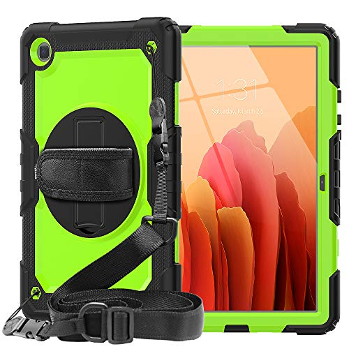 Samsung Tab A7 Case with Screen Protector for Kids Boys   SIBEITU Samsung Galaxy Tab A7 Case 2020 SM-T500 T505 T507   Durable Lifeproof Samsung A7 Tablet Cover 10.4 inch W  Handle for Teenagers Green