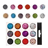 FRCOLOR 12 Boxes Nail Art Glitter Sequins 3D Holographic Nail Art Sparkly Confetti Manicure Paillettes DIY Nail Art Decor for Nail Crafts Face Eyes Body (Mixed)