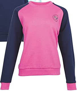 Denim Pinstripek Shires Aubrion Ladies Boston Sweatshirt in Pink Extra Large
