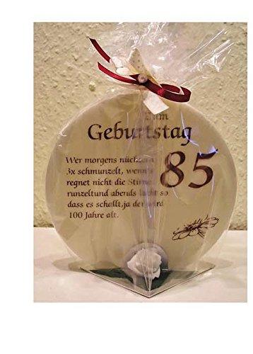 Depesche Geburtstagskerze Geschenk Kerze zum 85. Geburtstag 215g Grundpreis 139,30€/kg