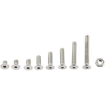 10 Muttern Edelstahl 10 Schrauben DIN 912 M1,6 x12 mm Rostfreier Stahl