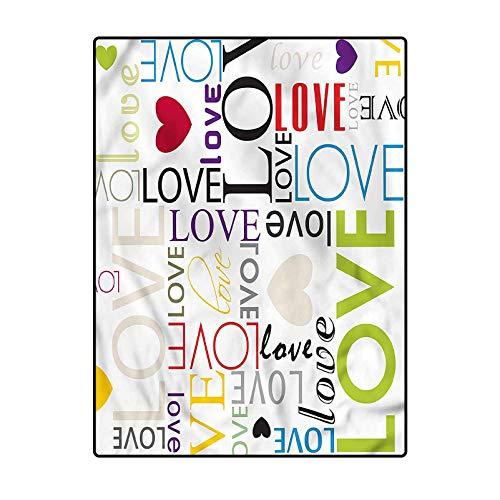Love Luxury Rug Marine Carpeting Heart Shape Colorful Pattern 6.5 x 9.8 Ft