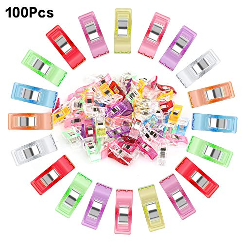 Sewing Quilting Clips Pack of 100, Quilt Clips Perfect for Sewing Binding,Crafts,Fabric ,Paper Work and Hanging Little Things Etc