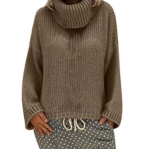 ReooLy Camisa de Entrenamiento, Sudadera con Capucha Holgada para Mujer, Cuello Redondo, Estampado de Girasol, Manga Larga(marrón,XL)