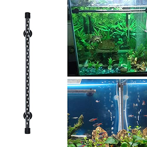 UNCOTARILY Iluminación LED para acuario, 18-58 cm, iluminación subacuática para acuario, cubierta impermeable, color azul y blanco