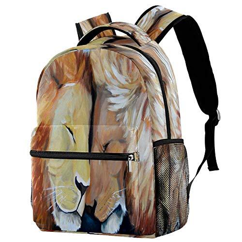 Lioness and Her - Mochila escolar para bebé, mochila para viaje, estilo informal, para viajes, estampado 5 (Multicolor) - bbackpacks004