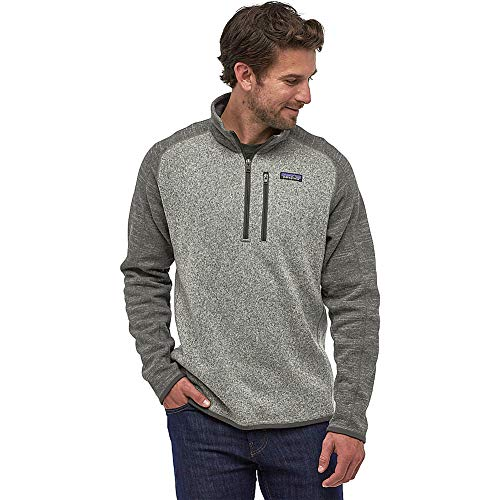 Patagonia Mens Better Sweater 1/4 Zip Nickel w/Forge Grey Small