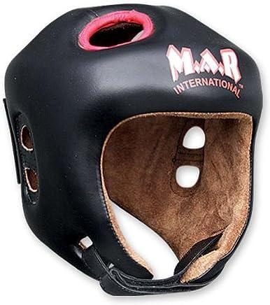 M.A.R International Ltd Kickboxen Kopfschutz Thai Boxing MMA Muay Thai Thai Thai Taekwondo Karate Judo Training Junior schwarz schwarz Junior B00GBU225E   | Eleganter Stil  978078
