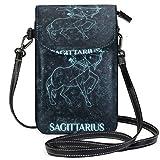 VJSDIUD Sagittarius - Cartera para teléfono móvil para mujer, niña, pequeña, bandolera, bolsos