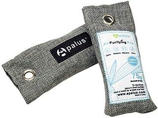 APALUS Bolsa Desodorante para Zapatos, Bolsa De Carbón Activo De Bambú, Elimina los Olores de Zapatos,Deshumidificador Y Purificador De Aire. Bolsas de Gimnasio, Areneros de Gatos, 75GX2