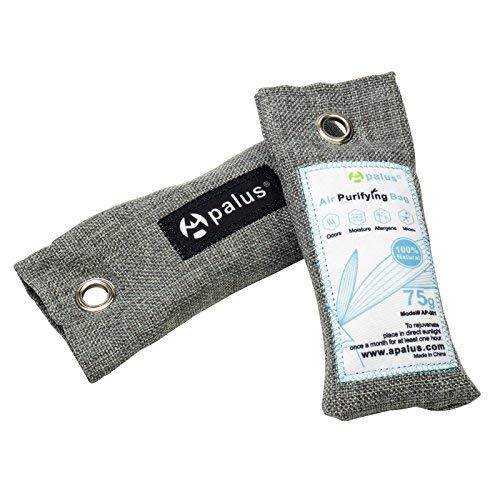 Apalus Schuh-Erfrischer, Luftreiniger Beutel aus Bambus Aktivkohle, Der Natürliche Lufterfrischer & Raumerfrischer ist der perfekte Geruchsneutralisierer für Schuhe, Schrank und Sporttasche