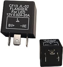 Dewhel 1 pc CF-13 CF13 EP34 3 Pin Electronic Flasher Fix 12V 0.02A-20A For LED Turn Signal Light Bulbs Hyper Blink Flash No Flash