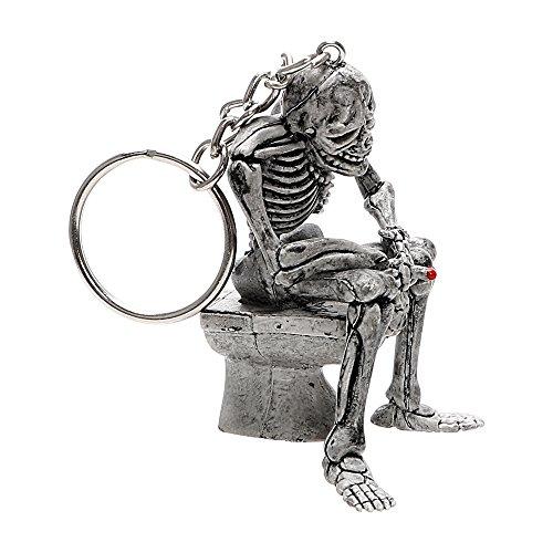 NOPNOG Autoschlüsselanhänger, lustiger Totenkopf, Schlüsselanhänger, aus Gummi