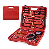 Orion Motor Tech Fuel Pressure Gauge, Fuel Injection Pressure Tester with 140PSI 10Bar Scale, Professional Fuel Pressure Test Kit for All Fuel Injection Systems and Most Cars Trucks Vans and ATVs