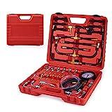 Fuel Pressure Tester, Orion Motor Tech Pro Fuel Injection Pressure Tester Kit 0-140PSI/10 Bar, For Mechanics