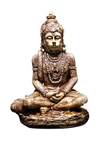 Amazingindiaonline Escultura de resina de dios hanuman tallada a mano, 15,8 cm