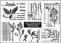 草の葉のクリアスタンプまたはDIYスクラップブッキング/カード作成/キッズ楽しい装飾用品のスタンプA215