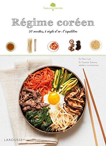 Le livre de cuisine Régime coréen