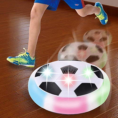 Chocozone Powered Pneumatic Suspended Hover Soccer Ball/Disc with Foam Bumpers and Colorful LED Lights Size 4 Football/Soccer Ball for Kids (Multicolour)