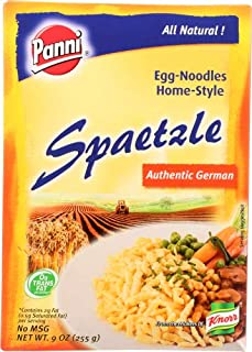 Panni Spaetzle Home-Style Egg Noodles, 9-Ounce Boxes ( Pack of 6)