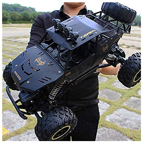 HA-BEASTWHEEL - 4X4 Rc Rock Crawler - 1:16 Rc Car 2.4Ghz Road Monster Trucks Excitement in Water, Mud and Snow - 40 Km/h High Speed Remote Control Car for Adults - Trucks Toy Gifts for Boy (Black)