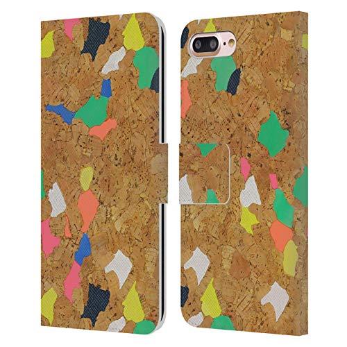 Head Case Designs Licenza Ufficiale Ninola Sughero Colorato Moderno 2 Cover in Pelle a Portafoglio Compatibile con Apple iPhone 7 Plus/iPhone 8 Plus