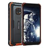 Blackview BV4900 (2021) Outdoor Smartphone ohne Vertrag, 5.580mAh, 3GB RAM+32GB ROM/128GB Erweiterbar, NFC, Gesichtserkennung, Android 10, 8MP+5MP, 5,7 Zoll 4G Dual SIM Handy mit IP68 - Orange