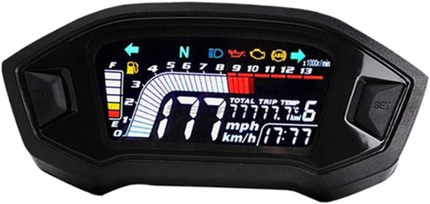 mit Sensor EIN Baosity Tachometer Kilometerz/ähler Zahnrad Digitalanzeige LCD LED KMH MPH f/ür 1 2 4 Zylinder