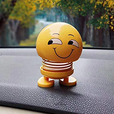 4th of July Onsales!!!, Spring Cute Smiley Doll Car Ornament Interior Dashboard Decor Bounce Toys, Home Decor Accessories Decorations Gifts