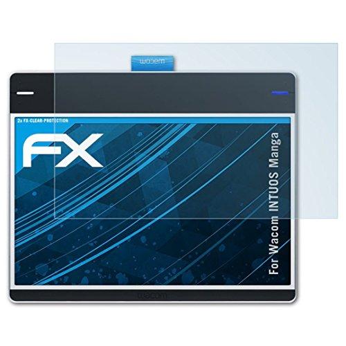 atFoliX Film Protection d'écran Compatible avec Wacom INTUOS Manga Protecteur d'écran, Ultra-Clair FX Écran Protecteur (2X)