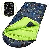 Kids Sleeping Bags,Glow-in-The-Dark Sleeping Bag for Kids Portable Waterproof Kids Sleeping Bag Extreme Temp Rating 30F/ -1℃ Great for Travel/Camping