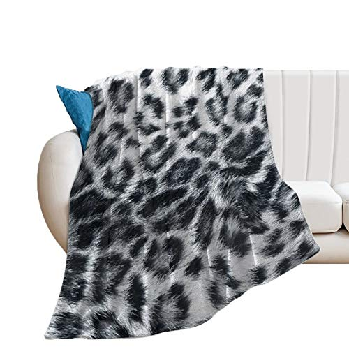 fivekim Manta suave y cómoda con textura en blanco y negro, 152 x 200 cm