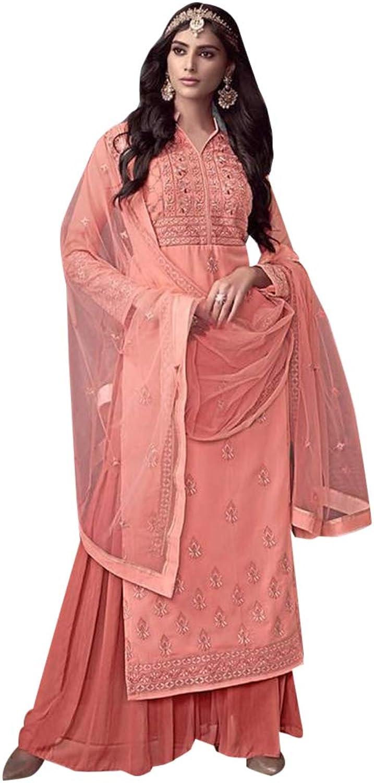 Indian Ethnic Party Wear Light To Wear Salwar Kameez Suit Palazzo Muslim Women Wear 7368