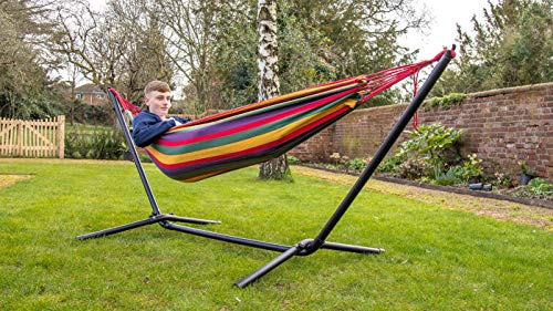 Load Capacity 225 kg Quilted Hammock with Detachable Curved Bamboo Spreader Bars Oxford Fabric SONGMICS Padded Double Hammock Off-White GDC34BE 200 x 140 cm Swing Bed with Pillow