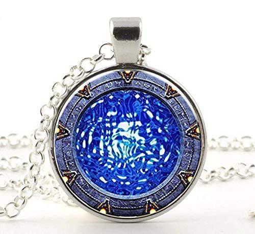 Stargate Atlantis Halskette, Stargate Portal SG1 Anhänger, Stargate Halskette, Glascabochon Anhänger, Geburtstagsgeschenk