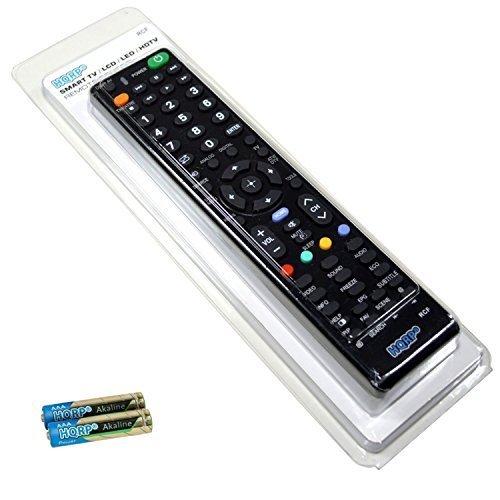 HQRP Universale Fernbedienung kompatibel mit Sony LED-Fernseher; KDL-32W705C, KDL-40W705C, KDL-48W705C, KDL-32R405C, KDL-40R455C Full HD