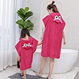 YASSUN Cotton Children's Bath Towel, Baby Hooded Bathrobe Cloak, 24' x 47' Boy and Girl Cartoon Cute Thick Bath Towel Cloak